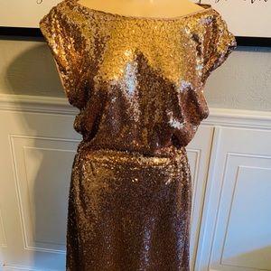 Just Fab Gold Sequin Dress